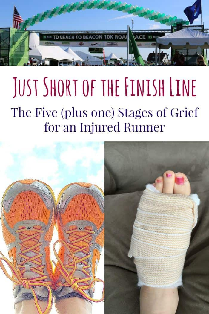 Just Short of the Finish Line - The Five (plus one) Stages of Grief for an Injured Runner | cupcakesandkalechips.com