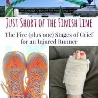 Stages of Grief Injured RUnner Square