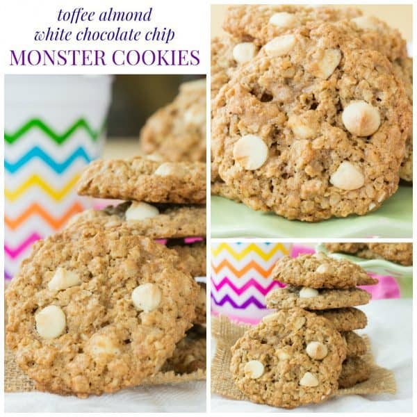 Toffee Almond White Chocolate Chip Monster Cookies ...