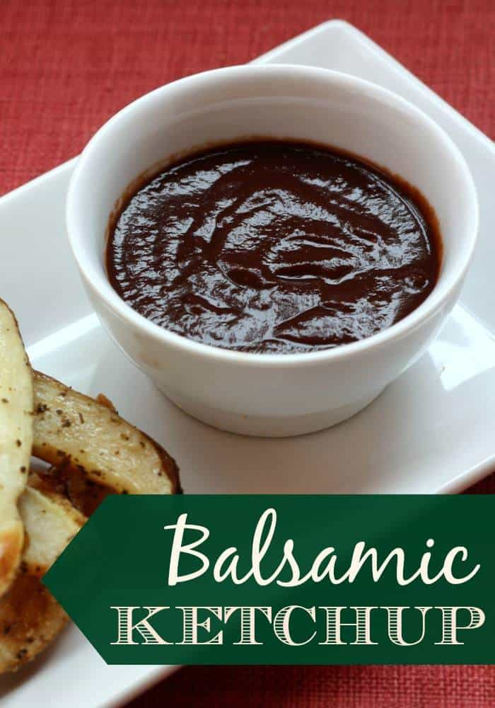 Balsamic Ketchup - A rich and savory condiment that adds something special to burgers, fries, and more that you can make in minutes. | cupcakesandkalechips.com | gluten free, vegan