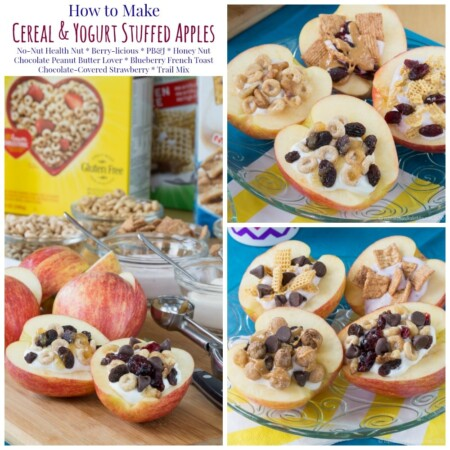 Cereal and Yogurt Stuffed Apples