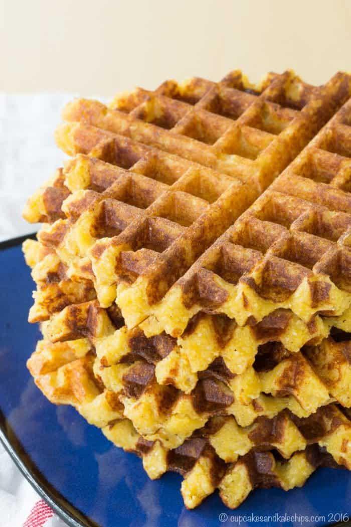Cheesy Polenta Waffles
