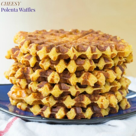 Cheesy Polenta Waffles for #SundaySupper