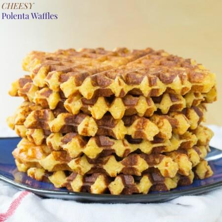 Cheesy Polenta Waffle