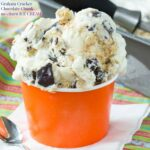 Graham Cracker Chocolate Chunk No-Churn Ice Cream