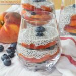 Blueberry Peach Coconut Chia Pudding Parfaits for #SundaySupper