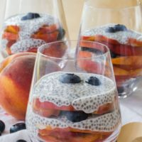 Blueberry Peach Coconut Chia Pudding Parfaits