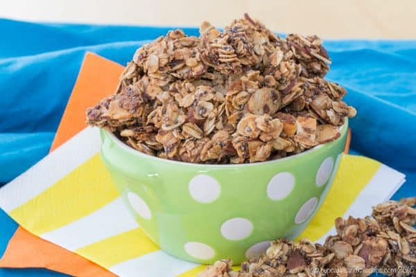Maple Brown Sugar Granola Clusters - this easy granola recipe is great for breakfast or a healthy snack as a crunchy topping for your yogurt! Gluten free, dairy free, and vegan. | cupcakesandkalechips.com