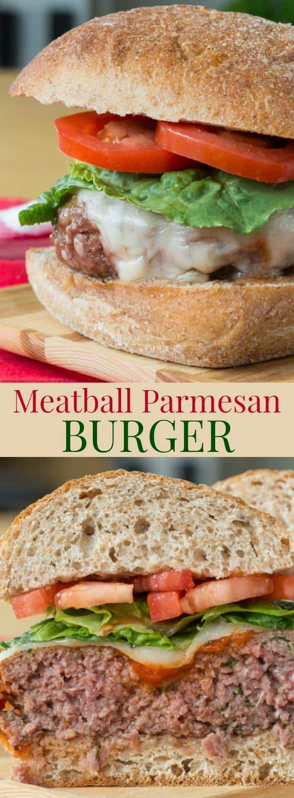 Meatball Parmesan Burgers Low Carb Option Cupcakes