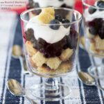 Mini Roasted Blueberry and Whipped Coconut Cream Trifles for #SundaySupper