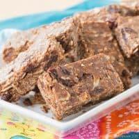 cherry chocolate almond no bake granola bars