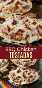 BBQ Chicken Tostadas Recipe Pin collage