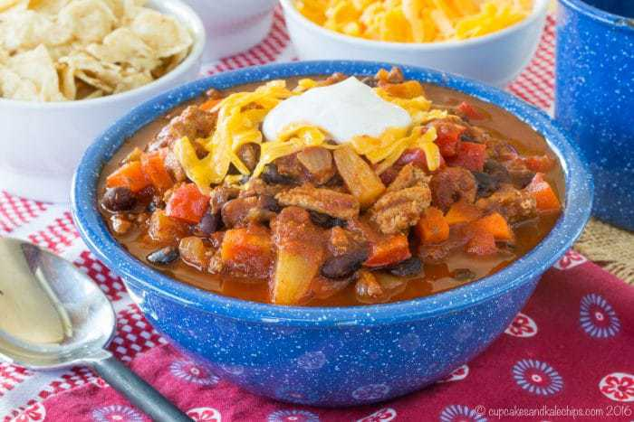 Slow Cooker Pineapple Black Bean Ground Turkey Chili Recipe