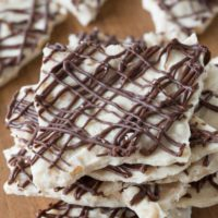 Toffee Pumpkin Spice White Chocolate Bark