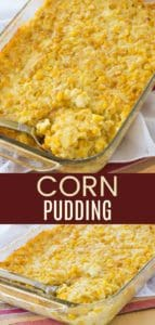 Gluten Free Corn Pudding Casserole Pinterest Collage
