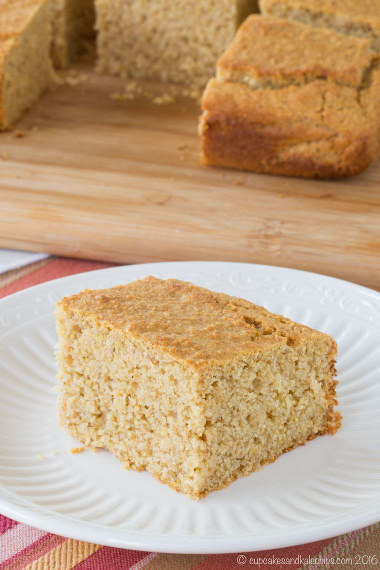 Gluten Free Apple Butter Corn Bread is an easy cornbread recipe made in one bowl