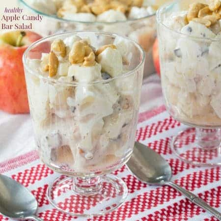 Healthy Apple Candy Bar Salad