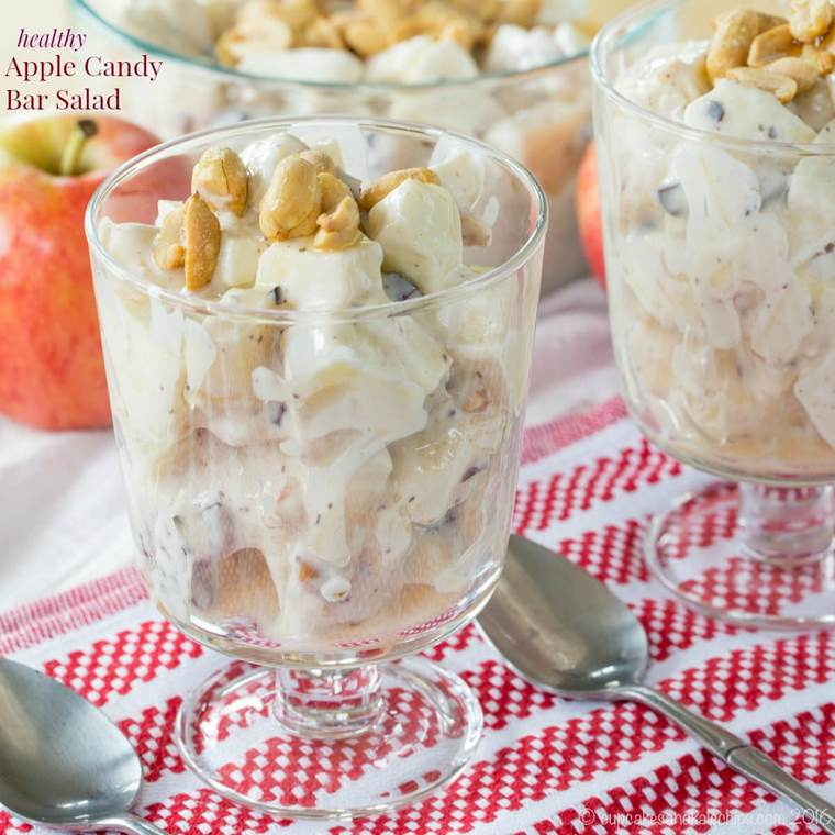 Healthy Apple Candy Bar Salad - Cupcakes & Kale Chips