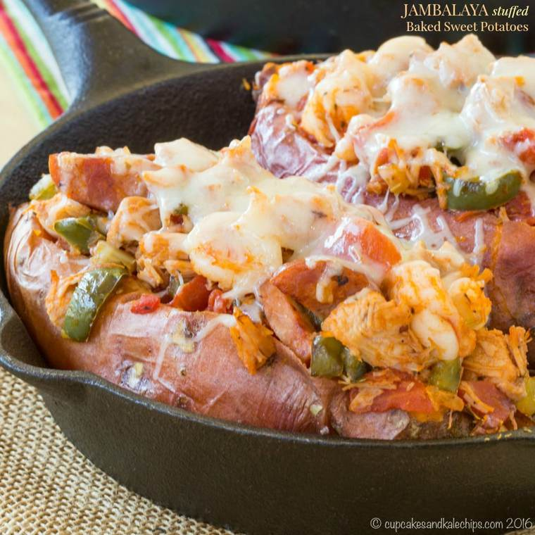 Jambalaya Stuffed Sweet Potatoes