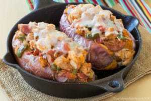 Jambalaya Stuffed Sweet Potatoes