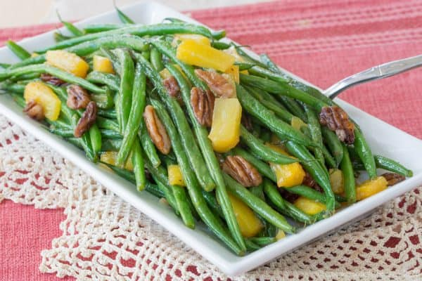Easy Green Beans with Pecans and Pineapple