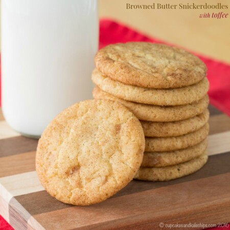 Browned Butter Snickerdoodles with Toffee Christmas Cookie Recipe