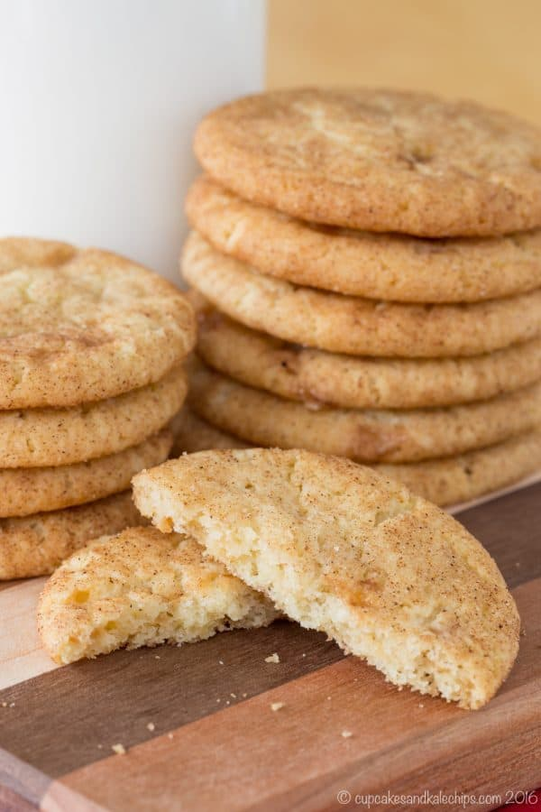 Browned Butter Snickerdoodles with Toffee are a rich and buttery way to update a traditional Christmas cookie recipe with brown butter and Heath bits.