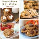 Flourless Peanut Butter Cookies – Four Ways