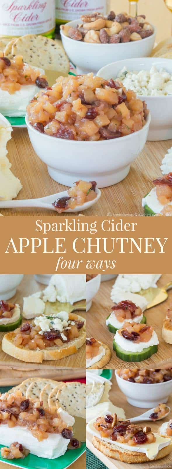 Sparkling Cider Apple Chutney - an easy recipe with four serving ideas for appetizers, or to top chicken, pork, or salads.