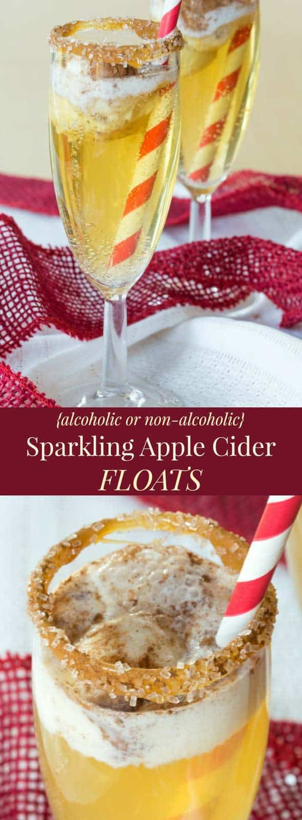 Sparkling Apple Cider Floats Recipes (alcoholic and non ...
