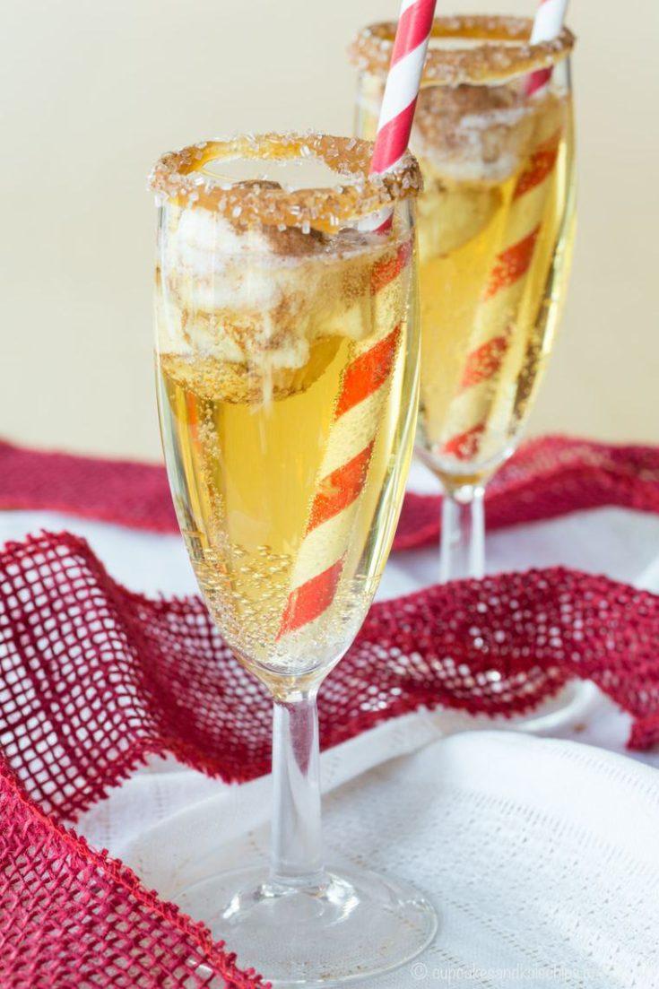 Sparkling Apple Cider Floats (Mocktails and Cocktails)