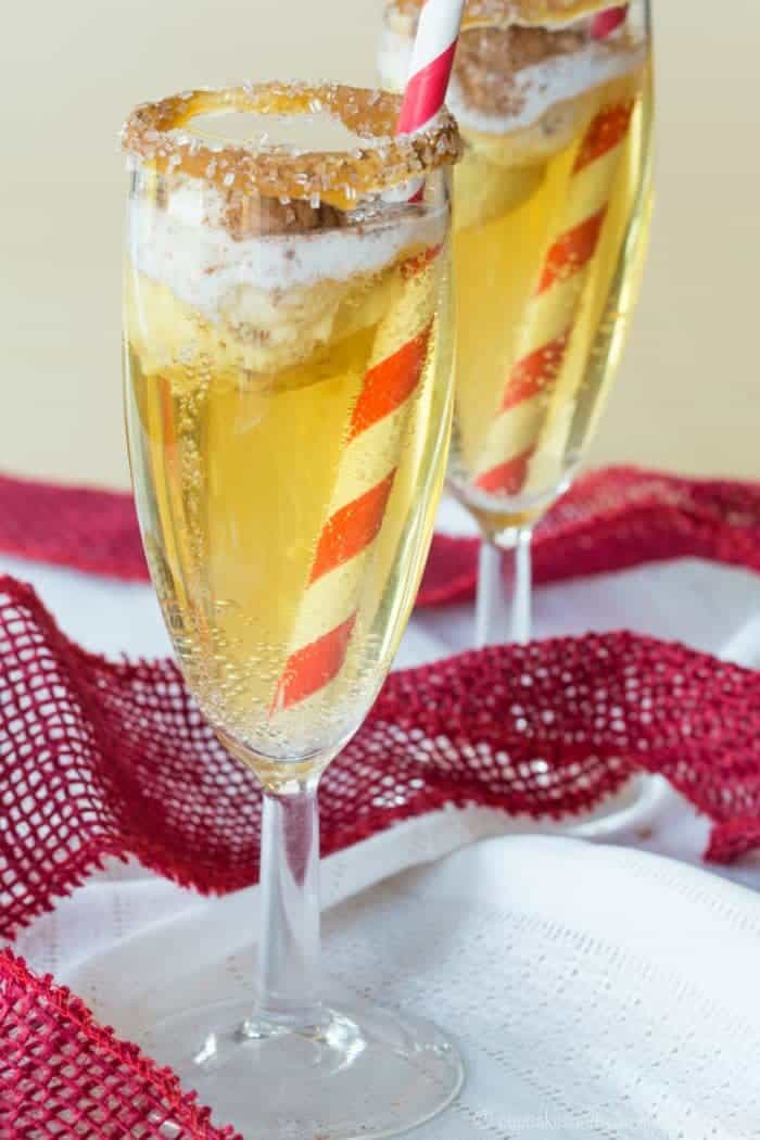 Sparkling Apple Cider Ice Cream Floats Cocktail or Mocktail