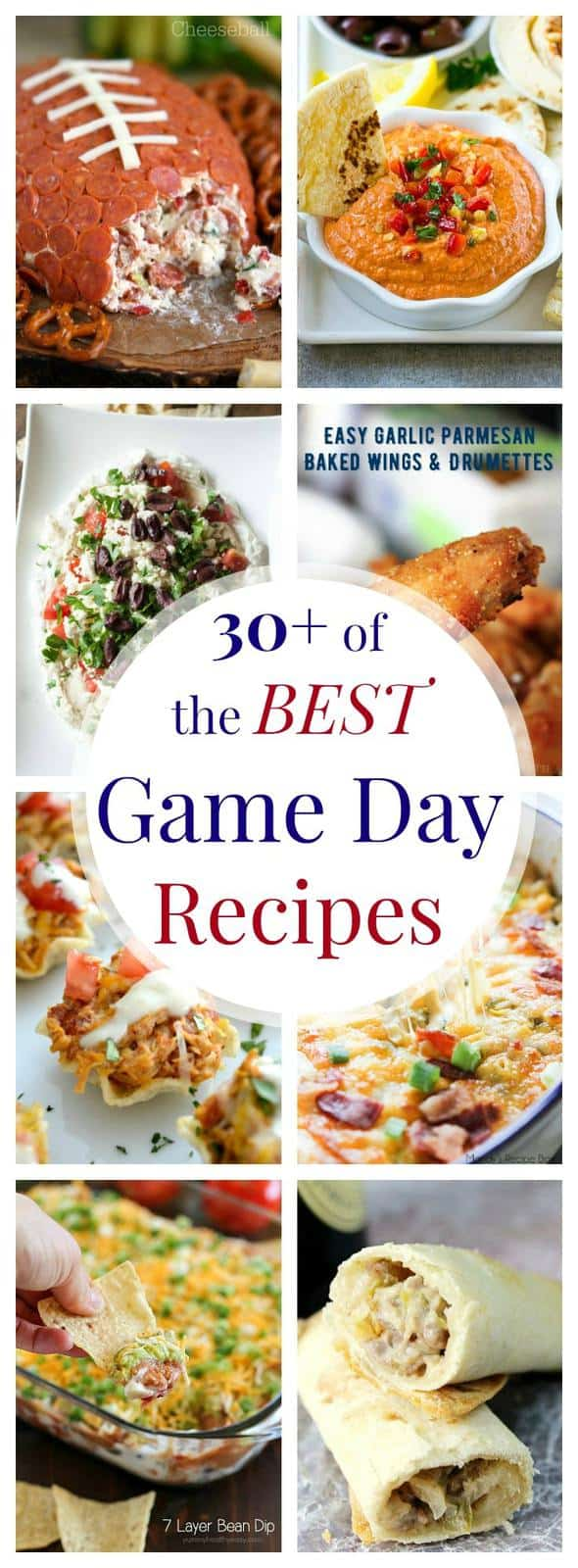 The Best Game Day Recipes - dips, wings, nachos and more for your big game party menu!
