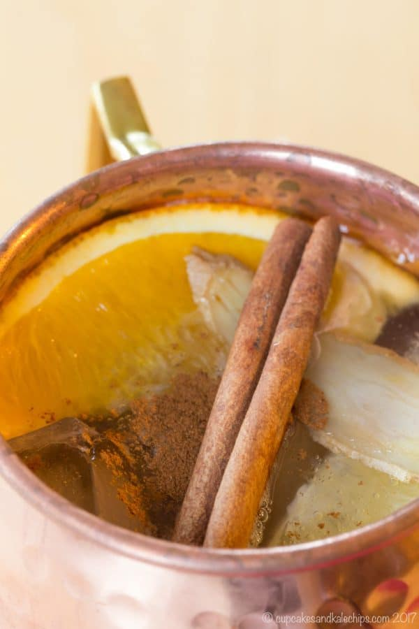 Cold Toddy Whiskey Mule - a cross between a hot toddy and a Moscow mule, this delicious cocktail has ingredients that will fight colds and viruses.