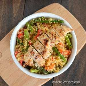 Roasted Red Pepper Asparagus Quinoa | Inside BruCrew Life