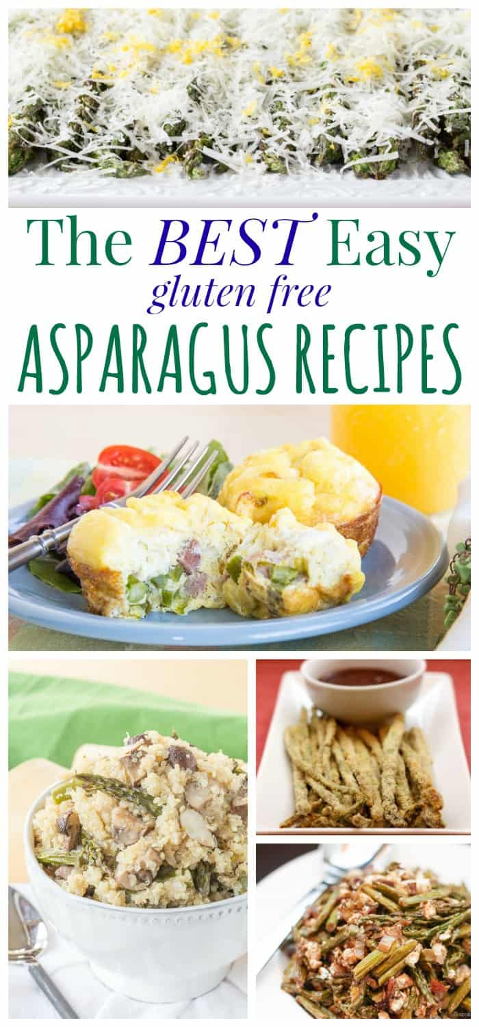 The Best Easy Asparagus Recipes - everyone's favorite spring vegetable in recipes that are also gluten free!