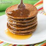 Mini Chocolate Banana Oat Blender Pancakes