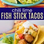 tacos made with fish sticks on a plate
