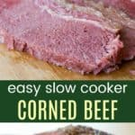 Easy Slow Cooker Corned Beef Collage