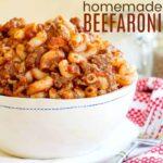 Five Ingredient Beefaroni Recipe