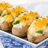 Broccoli Cheddar Baked Potatoes