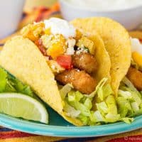 Chili Lime Fish Stick Tacos