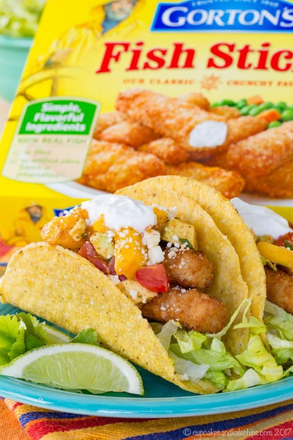 Chili Lime Fish Sticks Tacos