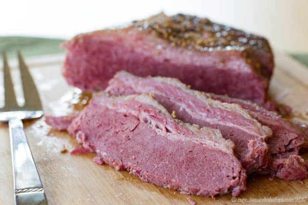 Easy Slow Cooker Corned Beef - one secret ingredient for this gluten free version of the St. Patrick's Day Irish classic.