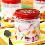 Rainbow Gel Fruit Parfait Cups