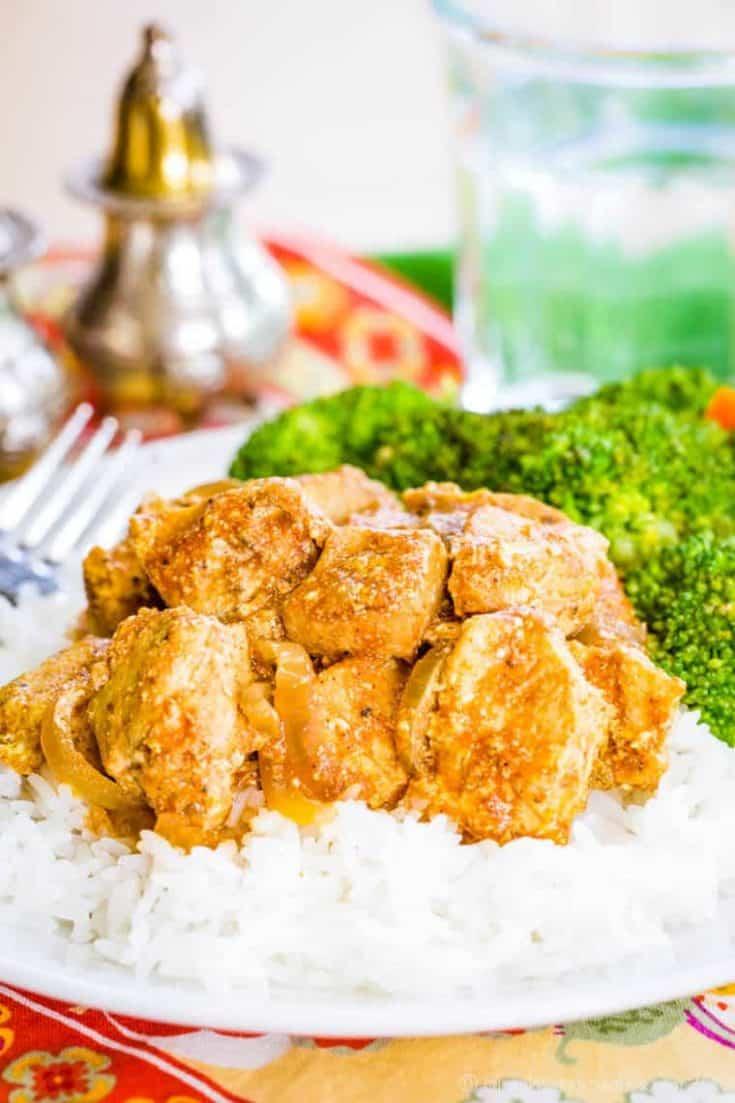 Lightened-Up Slow Cooker Butter Chicken