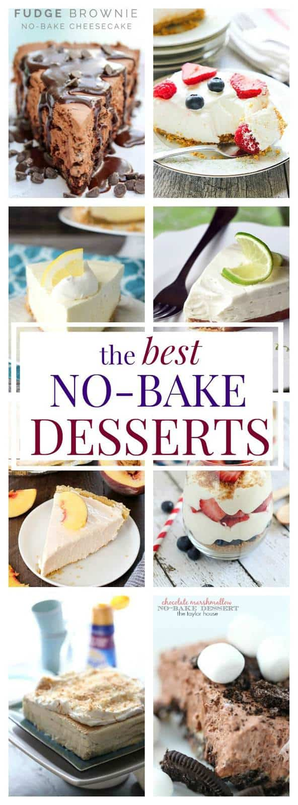 The Best No-Bake Desserts - delicious no-bake dessert recipes to keep your kitchen cool while you satisfy your sweet tooth.