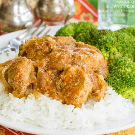 healthy dinner of Slow Cooker Butter Chicken