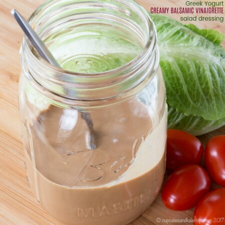 Greek Yogurt Creamy Balsamic Vinaigrette Dressing recipe