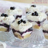 Blueberry Maple Mini Cheesecake Parfait